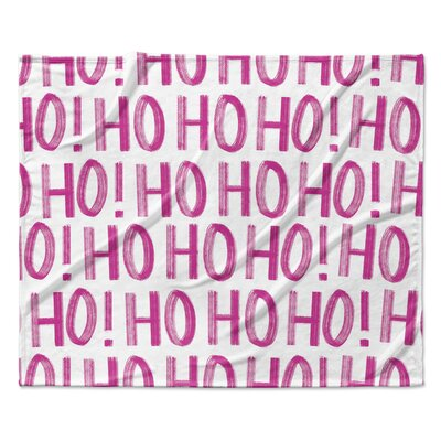 Ho ho ho Throw Blanket Size: 90 W x 90 L, Color: White
