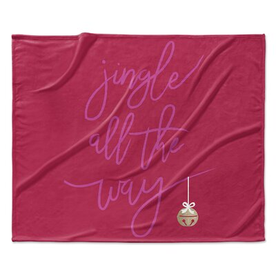 Jingle Throw Blanket Size: 90 W x 90 L
