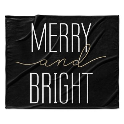 Merry and Bright Throw Blanket Size: 50 W x 60 L