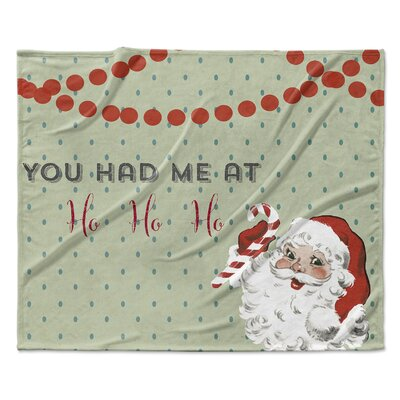 Ho Ho Ho Throw Blanket Size: 30 W x 40 L