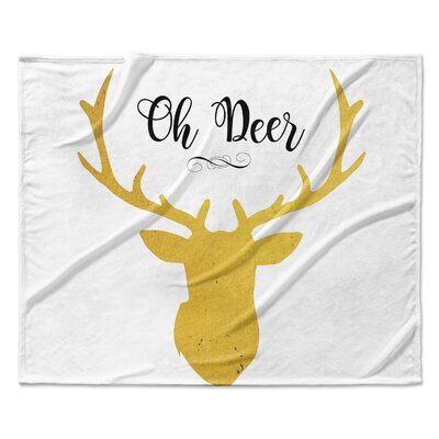 Oh Deer Throw Blanket Size: 60 W x 80 L