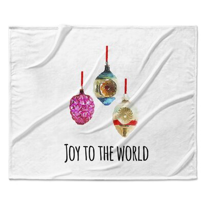 Joy to the World Throw Blanket Size: 90 W x 90 L