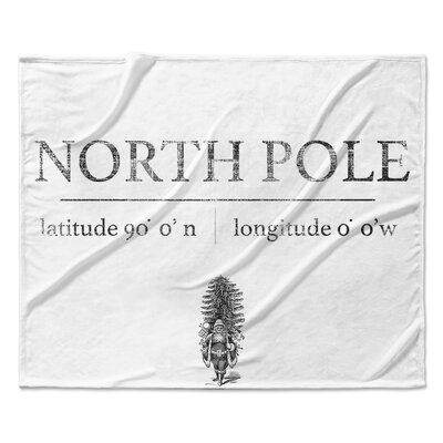 North Pole Throw Blanket Size: 50 W x 60 L