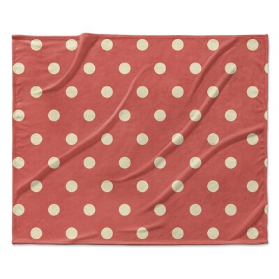 Dots Throw Blanket Size: 50 W x 60 L