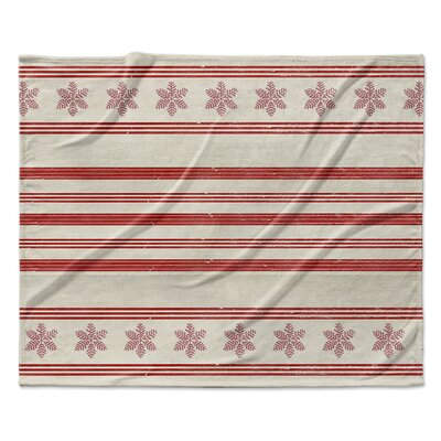 Holiday Stripes Throw Blanket Size: 60 W x 80 L