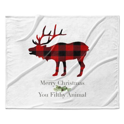 Filthy Animal Throw Blanket Size: 90 W x 90 L