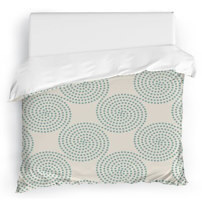Clouds Duvet Cover Size: Twin, Color: Ivory/Blue