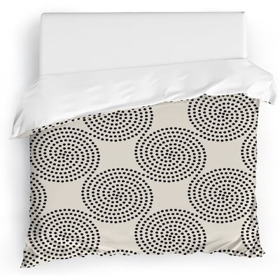 Clouds Duvet Cover Size: Full/Queen, Color: Ivory/Gray