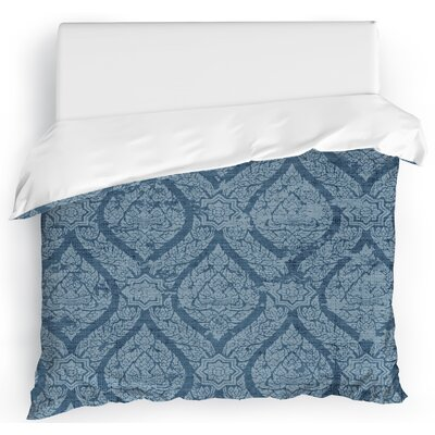 Rain Duvet Cover Color: Blue, Size: King