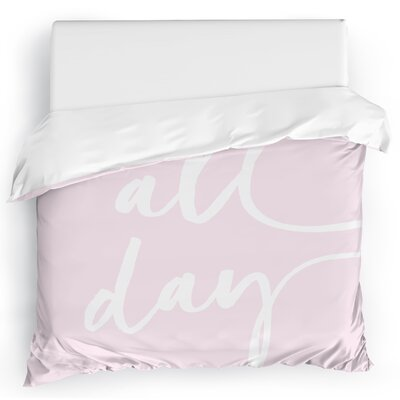 Bomaderry Duvet Cover Color: Pink, Size: King