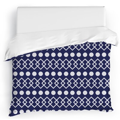Dots Chains Duvet Cover Size: King