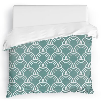 Stalvey Duvet Cover Size: King, Color: Green