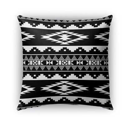 Cherokee Burlap Indoor/Outdoor Throw Pillow Size: 16 H x 16 W x 5 D, Color: Black