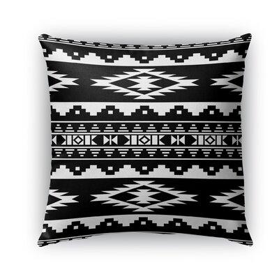 Cherokee Burlap Indoor/Outdoor Throw Pillow Size: 26 H x 26 W x 5 D, Color: Black