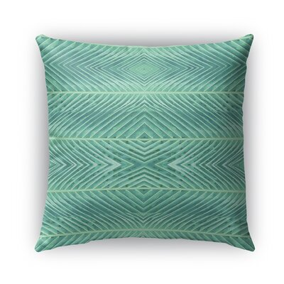 Palms Burlap Indoor/Outdoor Throw Pillow Color: Green, Size: 26 H x 26 W x 5 D
