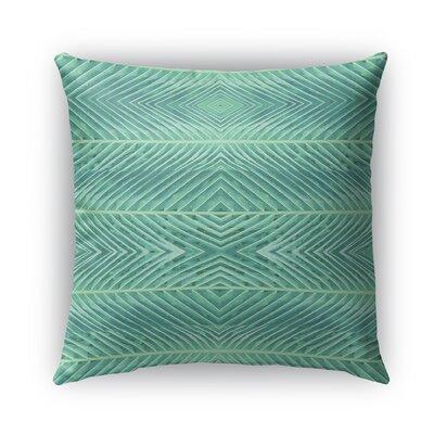 Palms Burlap Indoor/Outdoor Throw Pillow Color: Green, Size: 20 H x 20 W x 5 D