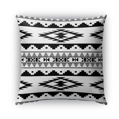 Cherokee Burlap Indoor/Outdoor Throw Pillow Size: 18 H x 18 W x 5 D, Color: Black/White