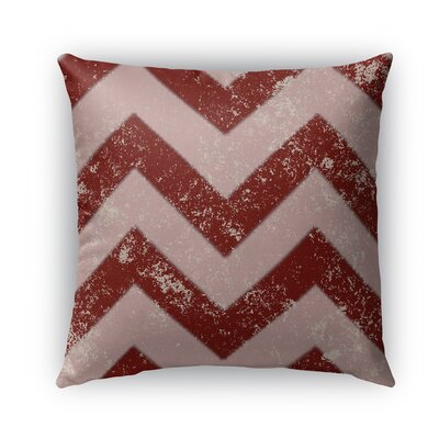 Candy Cane Burlap Chevron Indoor/Outdoor Throw Pillow Size: 16 H x 16 W x 5 D