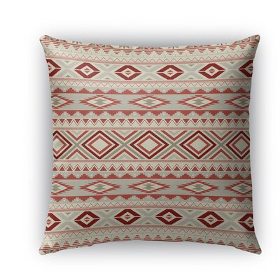 Cabarley Indoor/Outdoor Throw Pillow Size: 18 H x 18 W x 5 D, Color: Tan