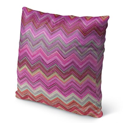 Marshall Pink/Purple Burlap Indoor/Outdoor Throw Pillow Size: 26 H x 26 W x 5 D