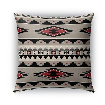 Cherokee Burlap Indoor/Outdoor Throw Pillow Size: 18 H x 18 W x 5 D, Color: Red