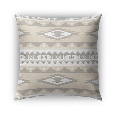 Cherokee Burlap Indoor/Outdoor Throw Pillow Color: Tan, Size: 20 H x 20 W x 5 D