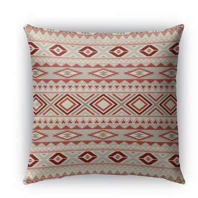 Cabarley Burlap Indoor/Outdoor Throw Pillow Color: Tan, Size: 20 H x 20 W x 5 D