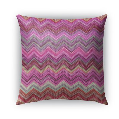 Marshall Pink Burlap Indoor/Outdoor Throw Pillow Size: 16 H x 16 W x 5 D