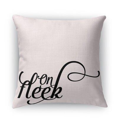 On Fleek Burlap Indoor/Outdoor Throw Pillow Size: 26 H x 26 W x 5 D