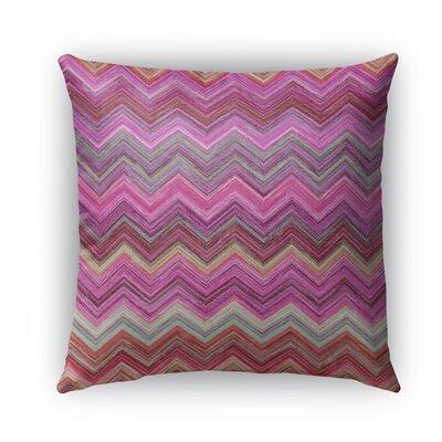 Pink Chevron Burlap Indoor/Outdoor Throw Pillow Size: 18 H x 18 W x 5 D
