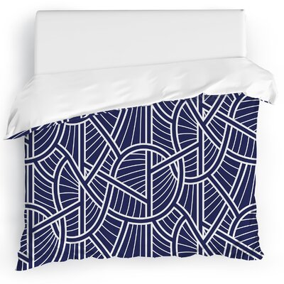 Geo Vines Duvet Cover Size: Twin