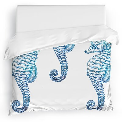 Seahorse 3 Duvet Cover Size: King