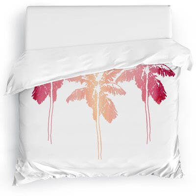 Duvet Cover Size: King, Color: Pink/White