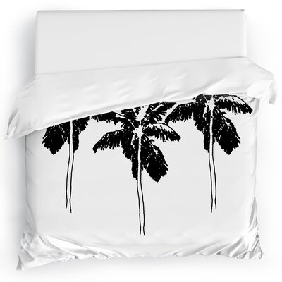 Duvet Cover Size: Twin, Color: Black/White