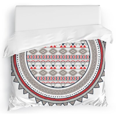 Tribal Tango Duvet Cover Size: Full/Queen, Color: Red
