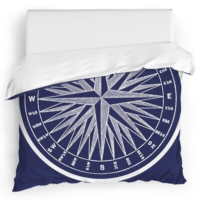Melton Compass Duvet Cover Size: Twin