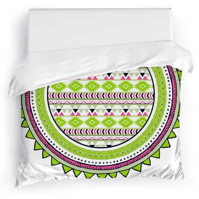 Tribal Tango Duvet Cover Size: King, Color: Lime