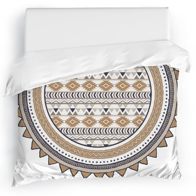Tribal Tango Duvet Cover Color: Tan, Size: Twin
