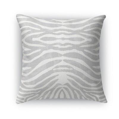Nerbone Burlap Throw Pillow Size: 18 H x 18 W x 5 D, Color: Gray
