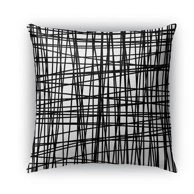 Lines Burlap Indoor/Outdoor Throw Pillow Size: 26 H x 26 W x 5 D