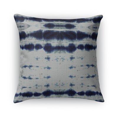 Shibori Stripe Burlap Throw Pillow Size: 16 H x 16 W x 5 D