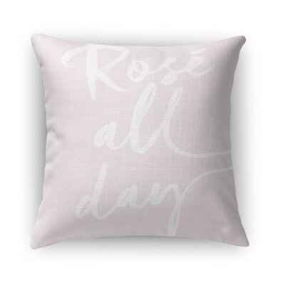Bomaderry Burlap Indoor/Outdoor Throw Pillow Size: 18 H x 18 W x 5 D, Color: Pink