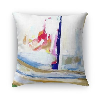 Splash of Fun Burlap Indoor/Outdoor Throw Pillow Size: 26 H x 26 W x 5 D