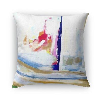 Splash of Fun Burlap Indoor/Outdoor Throw Pillow Size: 18 H x 18 W x 5 D