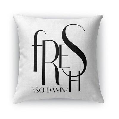 So Dam Fresh Burlap Indoor/Outdoor Throw Pillow Size: 26 H x 26 W x 5 D