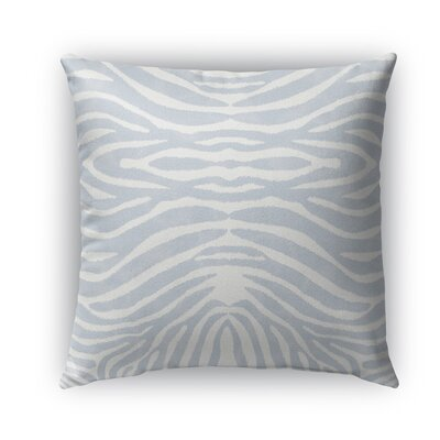 Nerbone Indoor/Outdoor Throw Pillow Size: 18 H x 18 W x 5 D, Color: Blue/ Ivory