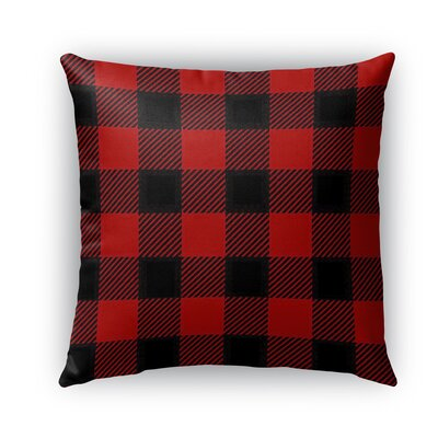 Lumberjack Burlap Indoor/Outdoor Throw Pillow Size: 18 H x 18 W x 5 D