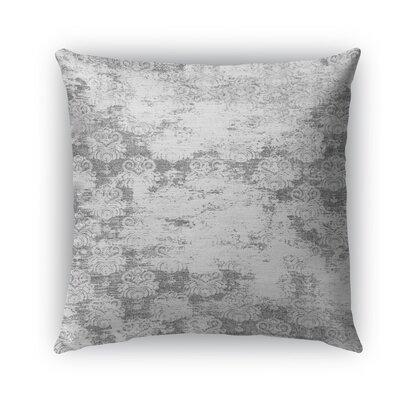 Cataleya Burlap Indoor/Outdoor Throw Pillow Size: 20 H x 20 W x 5 D, Color: Gray