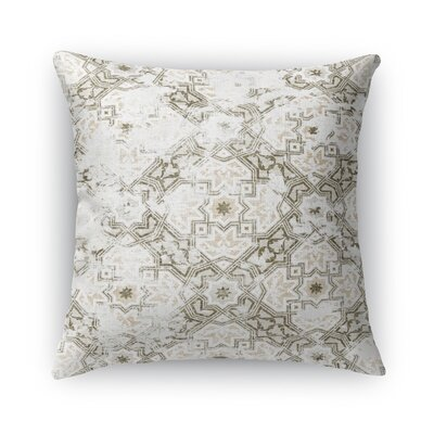 Esther Burlap Throw Pillow Color: Gray, Size: 24 H x 24 W x 5 D