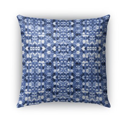 Shibori Mirror Burlap Indoor/Outdoor Throw Pillow Size: 26 H x 26 W x 5 D